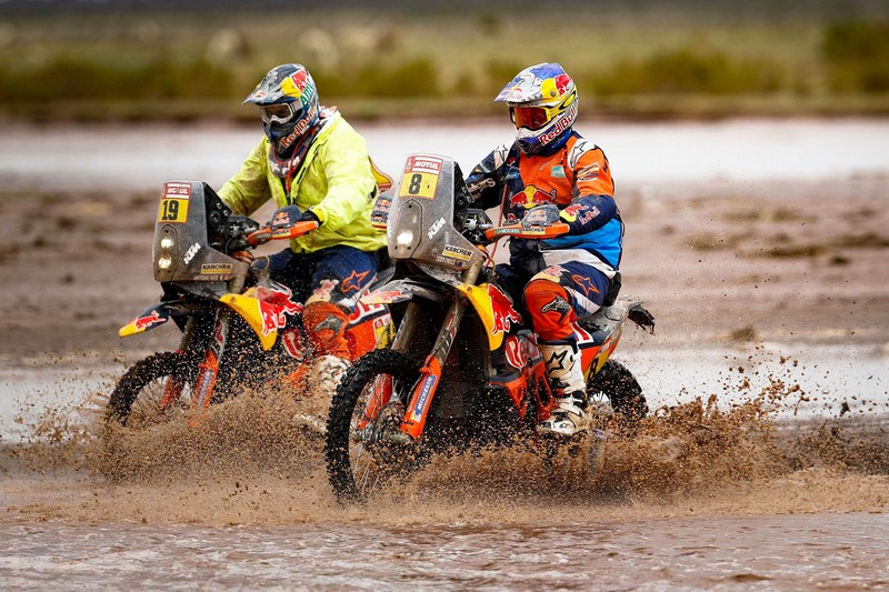 Antoine Meo Toby Price Red Bull KTM Factory Racing Dakar Rally 2018
