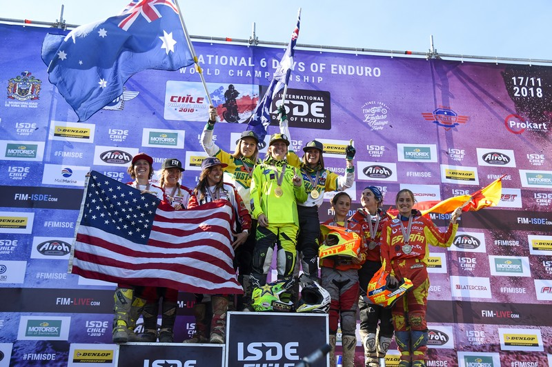 FIM ISDE 2018 Vina del Mar Day6 Podium Women 253