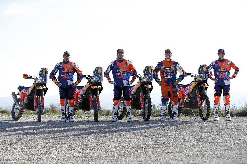 Red Bull KTM Rally Factory Racing Team shooting 2018