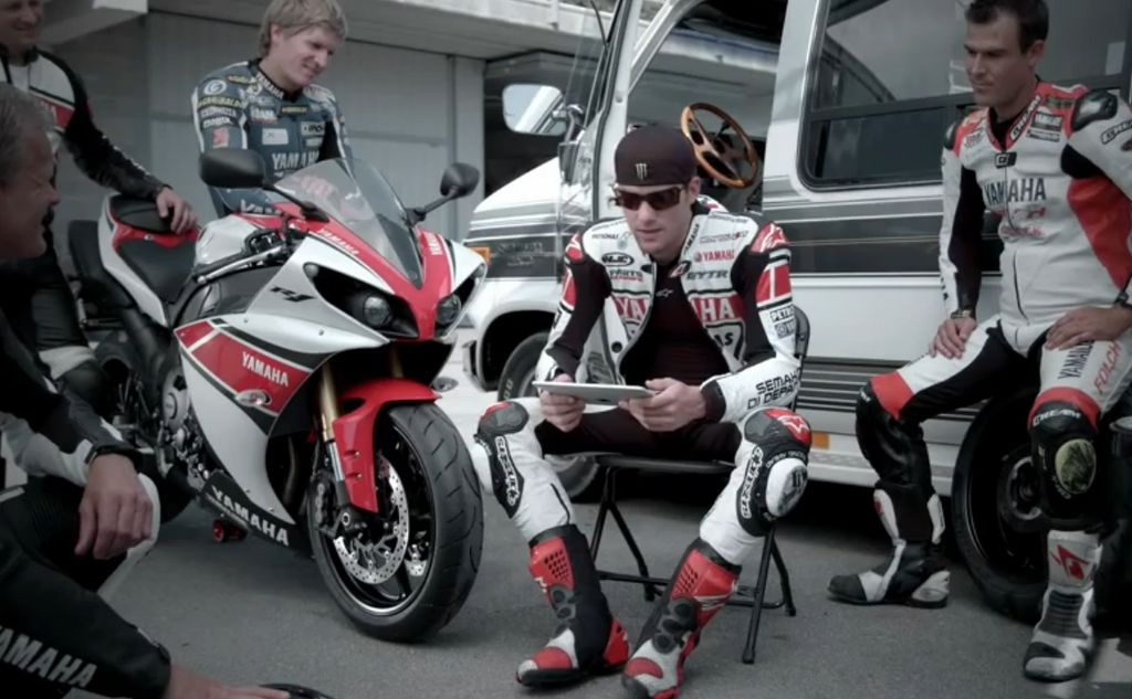 Yamaha R1 & Ben Spies σε track day