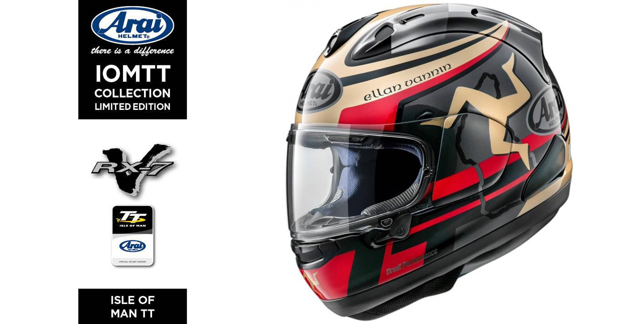 Arai RX 7X Isle of Man TT 2020 1