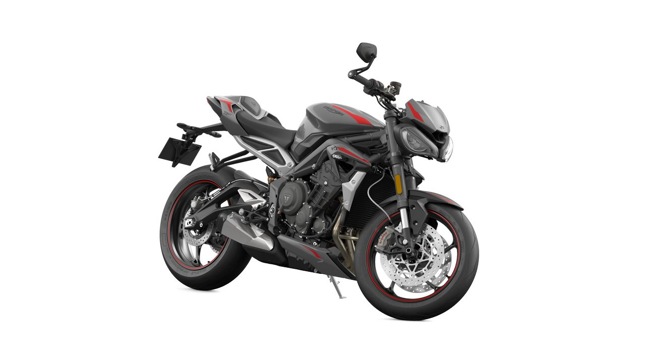 Street Triple RS MY20 Silver Angle RHS