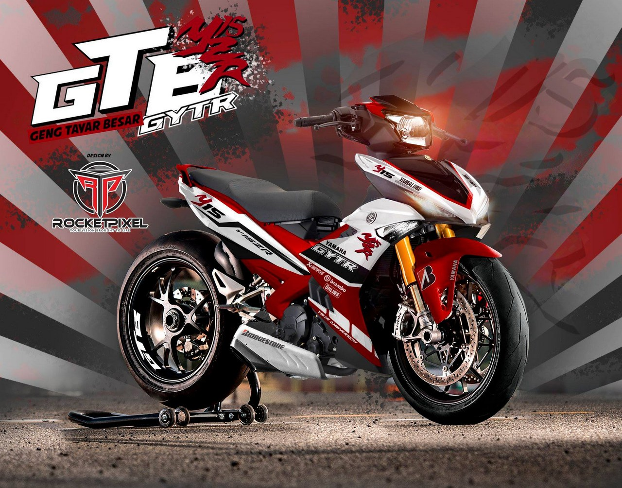 Yamaha Y15ZR by RocketPixel - BIKEIT!