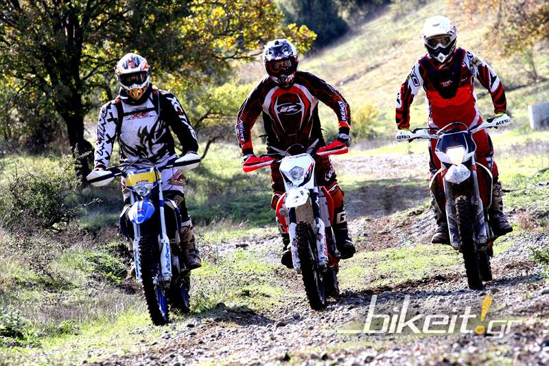 Συγκριτικό Enduro 450 - 2013 – Gas Gas EC / Husaberg FE / KTM EXC-F Six Days