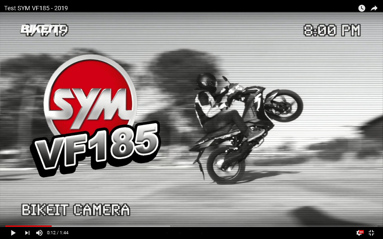 TEST - SYM VF185 - Video