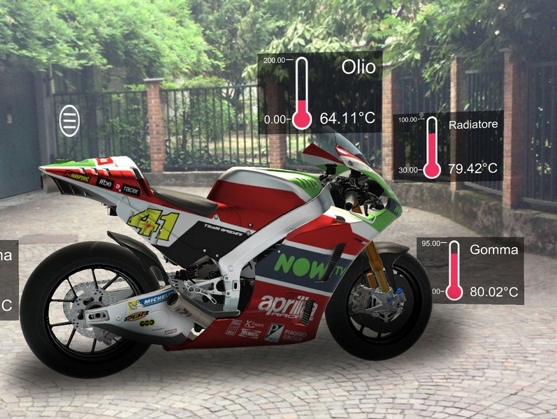 01 Aprilia AR telemetric data