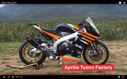 Aprilia: Η νίκη με ρεκόρ στο Pikes Peak International Hill-Climb 2019 - Video