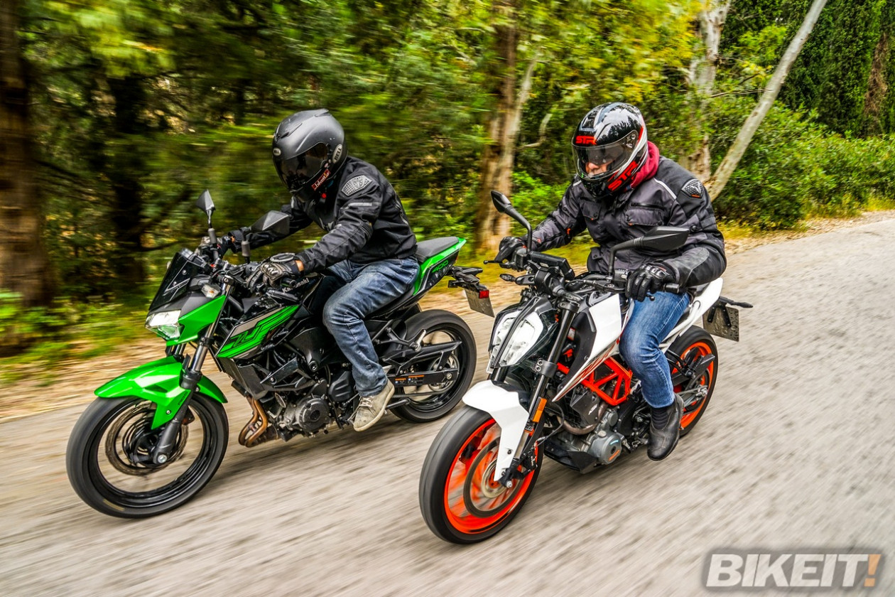 Συγκριτικό TEST - Kawasaki Z400 vs KTM 390 Duke