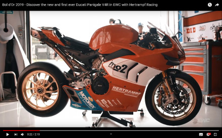 Ducati Panigale V4R Endurance bike - Video