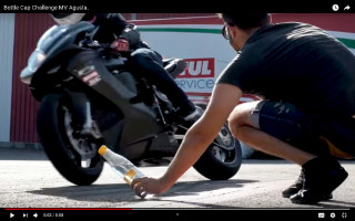 MV Agusta Bottle cap challenge - Video