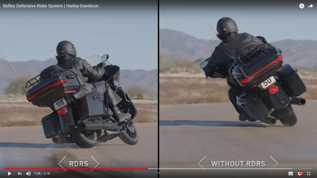 Harley Davidson - Reflex Defensive Rider System (RDRS) - VIDEO