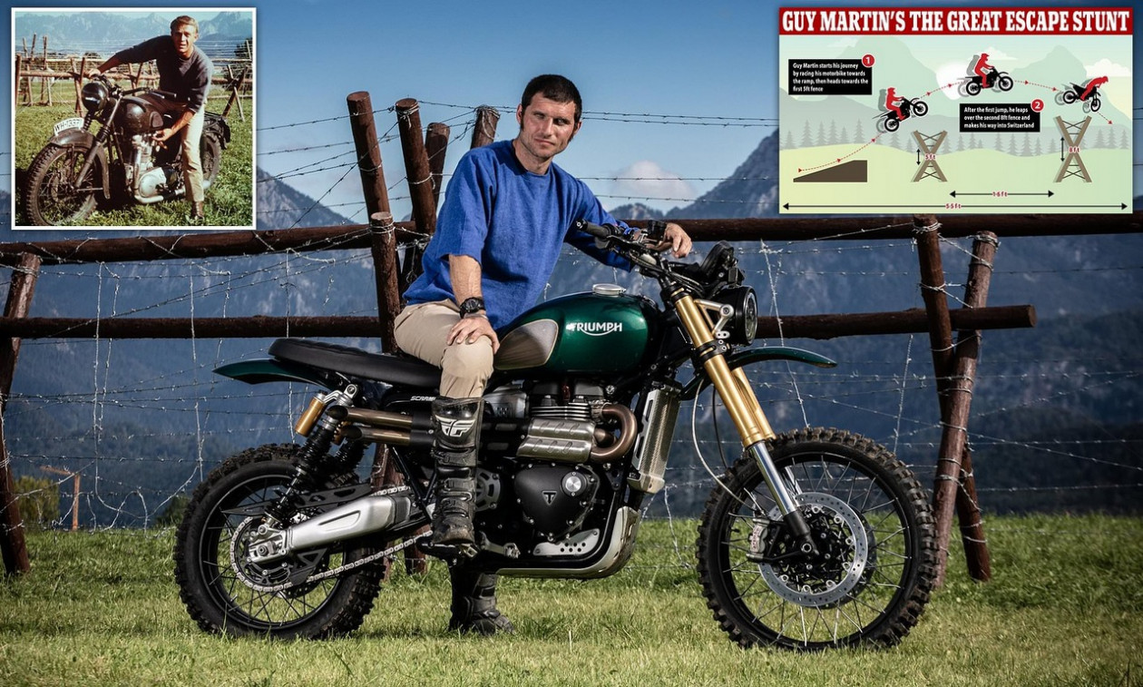 Guy Martin΄s Great Escape - Αναπαρέστησε το άλμα της μεγάλης απόδρασης!