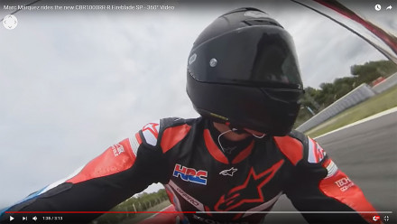 Ο Marc Marquez οδηγεί το Honda CBR1000RR-R Fireblade SP - 360° Video